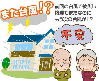 台風の不安