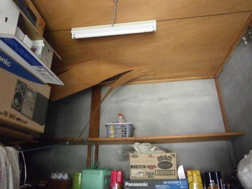 下関 倉庫の雨漏り